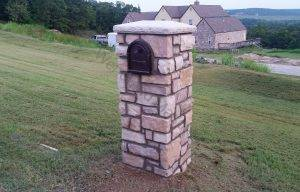 Cultured thin stone mailbox