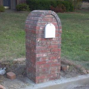 Brick with accented crescent cap
