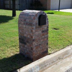 Brick with free hand colored characteristics