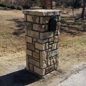 Stone with stone cap