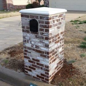 Masonry brick with german mortar smear