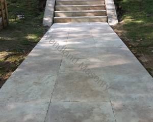 Travetine sidewalk